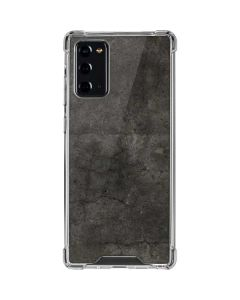Dark Iron Grey Concrete Galaxy Note20 5G Clear Case