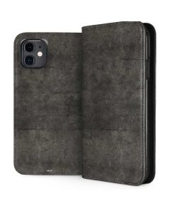 Dark Iron Grey Concrete iPhone 11 Folio Case