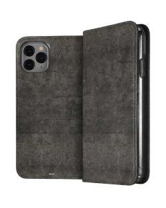 Dark Iron Grey Concrete iPhone 11 Pro Folio Case