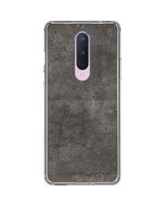 Dark Iron Grey Concrete OnePlus 8 Clear Case
