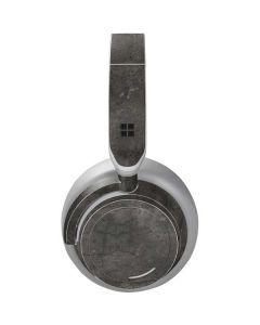 Dark Iron Grey Concrete Surface Headphones Skin