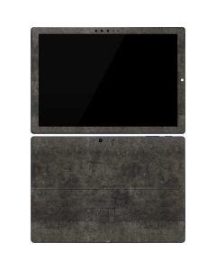 Dark Iron Grey Concrete Surface Pro 7 Skin