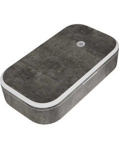 Dark Iron Grey Concrete UV Phone Sanitizer and Wireless Charger Skin