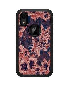 Dark Tapestry Floral Otterbox Defender iPhone Skin