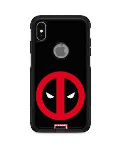 Deadpool Logo Black Otterbox Commuter iPhone Skin