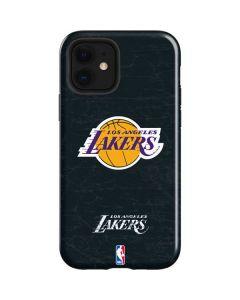 Los Angeles Lakers Black Primary Logo iPhone 12 Case