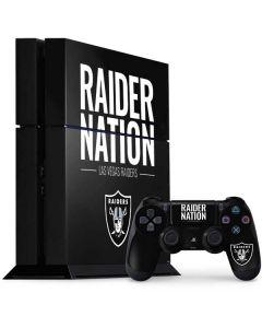 Las Vegas Raiders Team Motto PS4 Console and Controller Bundle Skin