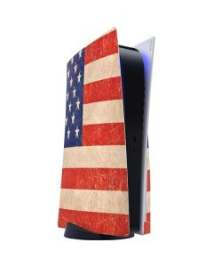 Distressed American Flag PS5 Console Skin