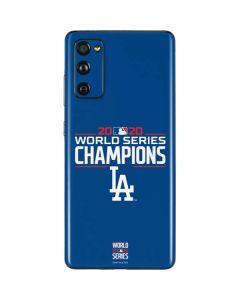 2020 World Series Champions LA Dodgers Galaxy S20 Fan Edition Skin