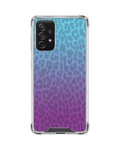 Cheetah Print Purple and Blue Galaxy A72 5G Clear Case