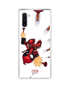 Deadpool Baby Fire Galaxy Note 10 Clear Case