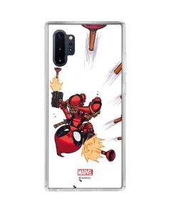 Deadpool Baby Fire Galaxy Note 10 Plus Clear Case