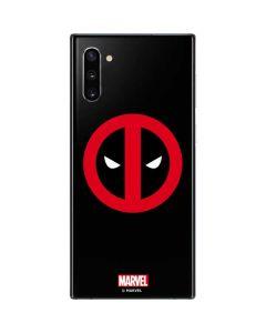 Deadpool Logo Black Galaxy Note 10 Skin