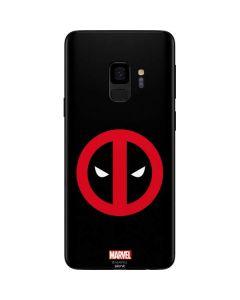 Deadpool Logo Black Galaxy S9 Skin