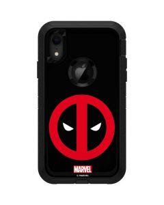 Deadpool Logo Black Otterbox Defender iPhone Skin