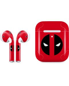 Deadpool Logo Red Apple AirPods 2 Skin