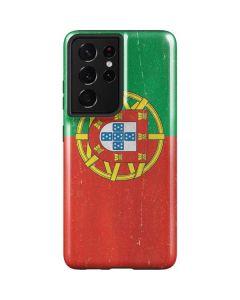 Portugal Flag Distressed Galaxy S21 Ultra 5G Case