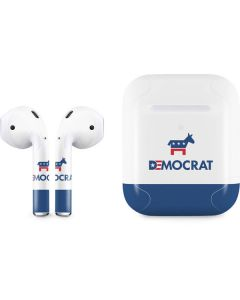 Democrat Blue And Red Apple AirPods 2 Skin