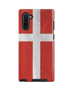 Denmark Flag Distressed Galaxy Note 10 Pro Case