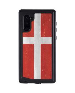 Denmark Flag Distressed Galaxy Note 10 Waterproof Case