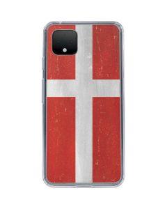 Denmark Flag Distressed Google Pixel 4 Clear Case