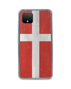 Denmark Flag Distressed Google Pixel 4 XL Clear Case