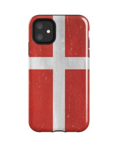 Denmark Flag Distressed iPhone 11 Impact Case