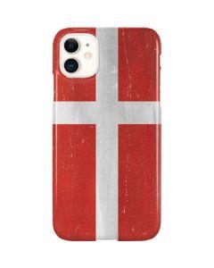 Denmark Flag Distressed iPhone 11 Lite Case