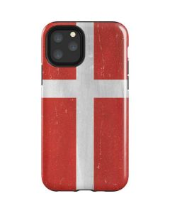 Denmark Flag Distressed iPhone 11 Pro Impact Case