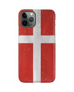 Denmark Flag Distressed iPhone 11 Pro Lite Case