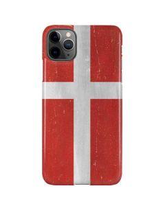 Denmark Flag Distressed iPhone 11 Pro Max Lite Case