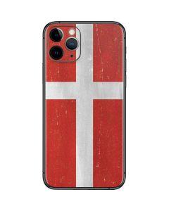 Denmark Flag Distressed iPhone 11 Pro Skin
