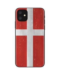 Denmark Flag Distressed iPhone 11 Skin