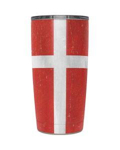 Denmark Flag Distressed Yeti 20oz Tumbler Skin