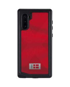 Denmark Soccer Flag Galaxy Note 10 Waterproof Case