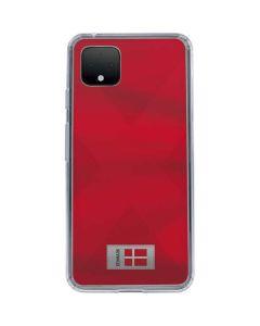 Denmark Soccer Flag Google Pixel 4 XL Clear Case
