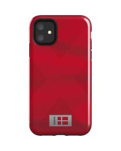 Denmark Soccer Flag iPhone 11 Impact Case