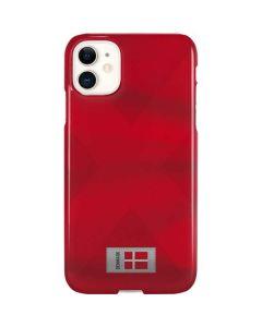 Denmark Soccer Flag iPhone 11 Lite Case