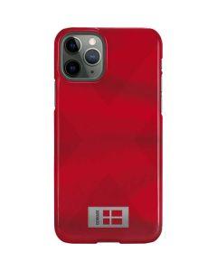 Denmark Soccer Flag iPhone 11 Pro Lite Case
