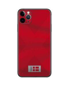 Denmark Soccer Flag iPhone 11 Pro Max Skin