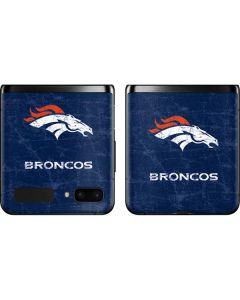 Denver Broncos - Distressed Galaxy Z Flip Skin