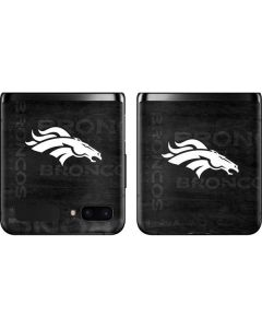 Denver Broncos Black & White Galaxy Z Flip Skin