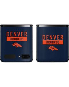 Denver Broncos Blue Performance Series Galaxy Z Flip Skin