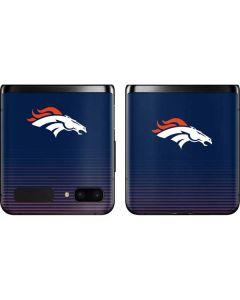 Denver Broncos Breakaway Galaxy Z Flip Skin