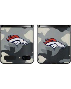 Denver Broncos Camo Galaxy Z Flip Skin
