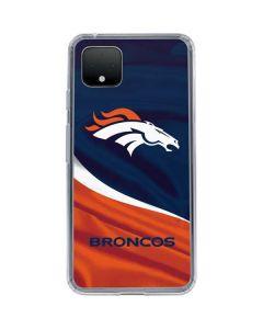 Denver Broncos Google Pixel 4 Clear Case