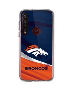 Denver Broncos Moto G8 Plus Clear Case