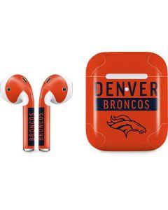 Denver Broncos Orange Performance Series Apple AirPods 2 Skin