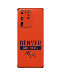 Denver Broncos Orange Performance Series Galaxy S20 Ultra 5G Skin