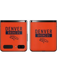 Denver Broncos Orange Performance Series Galaxy Z Flip Skin